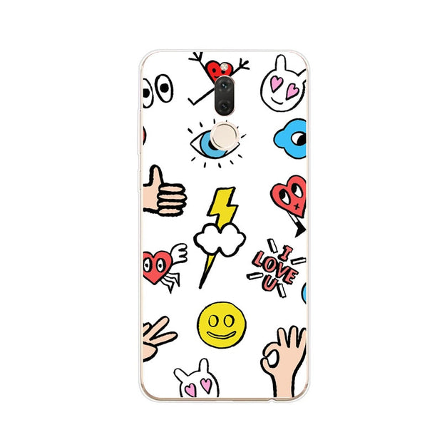 Huawei Nova 2i Case,Silicon Cartoon Painting Soft TPU Back Cover For Huawei Nova 2I Phone Protect Case Shell