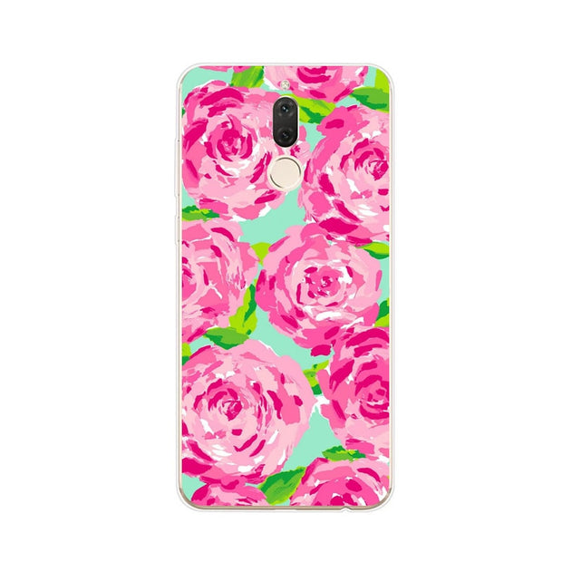 Huawei Nova 2i Case,Silicon Colorful Plant Painting Soft TPU Back Cover For Huawei Nova 2I Phone Fitted Case Shell