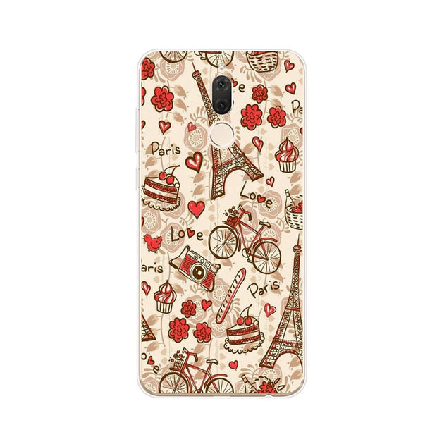 Huawei Nova 2i Case,Silicon Colorful Plant Painting Soft TPU Back Cover For Huawei Nova 2I Phone Protect Case Shell