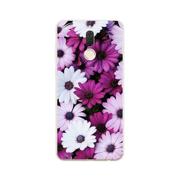 Huawei Nova 2i Case,Silicon Flowers Plant Painting Soft TPU Back Cover For Huawei Nova 2I Phone Protect Case Shell