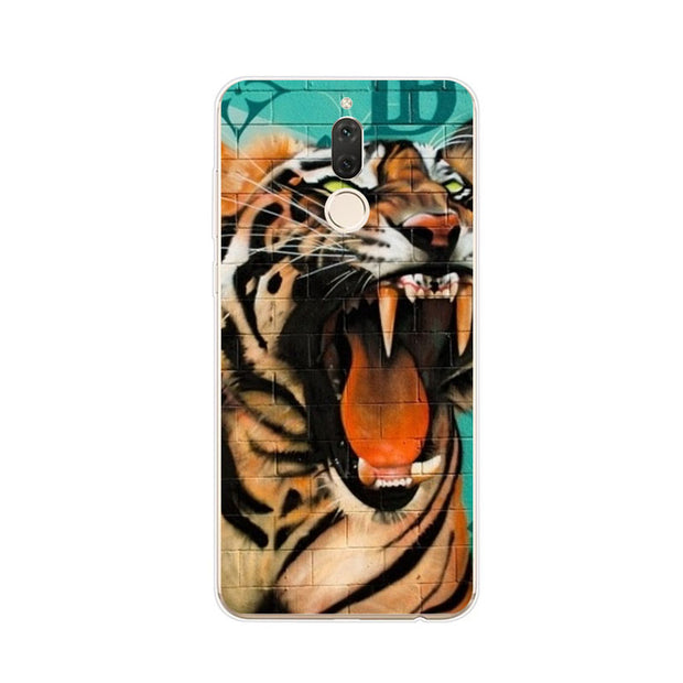 Huawei Nova 2i Case,Silicon Graffiti 3D Relief Painting Soft TPU Back Cover For Huawei Nova 2I Phone Fitted Case Shell