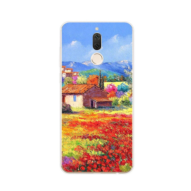 Huawei Nova 2i Case,Silicon Graffiti 3D Relief Painting Soft TPU Back Cover For Huawei Nova 2I Phone Protect Case Shell