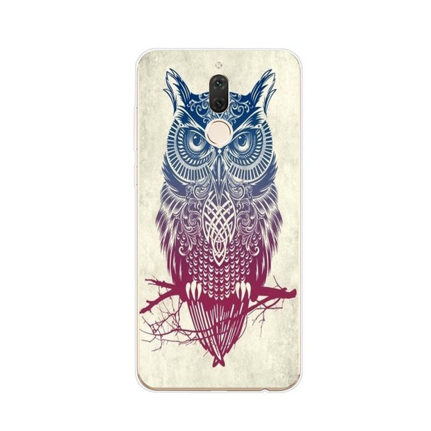 Huawei Nova 2i Case,Silicon Look Cat Painting Soft TPU Back Cover For Huawei Nova 2I Phone Protect Case Shell