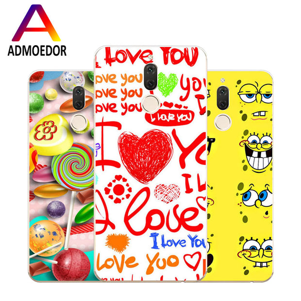 Huawei Nova 2i Case,Silicon Popular Cartoon Painting Soft TPU Back Cover For Huawei Nova 2I Phone Fitted Case Shell