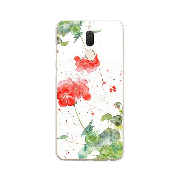 Huawei Nova 2i Case,Silicon Beautiful Flowers 3D Relief Painting Soft TPU Back Cover For Huawei Nova 2I Phone Fitted Case Shell