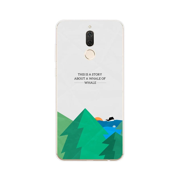 Huawei Nova 2i Case,Silicon Landscape Painting Soft TPU Back Cover For Huawei Nova 2I Phone Fitted Case Shell