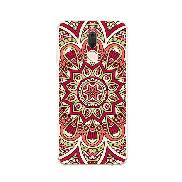Huawei Nova 2i Case,Silicon Mandala Cartoon Painting Soft TPU Back Cover For Huawei Nova 2I Phone Fitted Case Shell