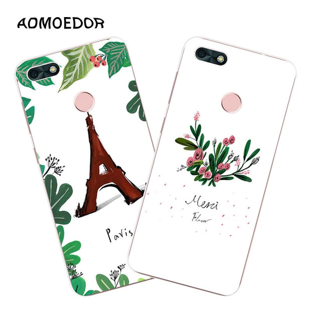 Huawei Y6 Pro 2017 Case,Silicon Bubble Cat Painting Soft TPU Back Cover For Huawei Y6 Pro 2017 Phone Fitted Case Shell