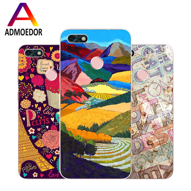 Huawei Y6 Pro 2017 Case,Silicon Colorful Images Painting Soft TPU Back Cover For Huawei Y6 Pro 2017 Phone Fitted Case Shell