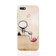 Huawei Y6 Pro 2017 Case,Silicon Fashion Cartoon Painting Soft TPU Back Cover For Huawei Y6 Pro 2017 Phone Fitted Case Shell