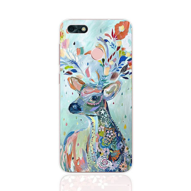 Huawei Y6 Pro 2017 Case,Silicon Lifelike 3D Relief Painting Soft TPU Back Cover For Huawei Y6 Pro 2017 Phone Fitted Case Shell