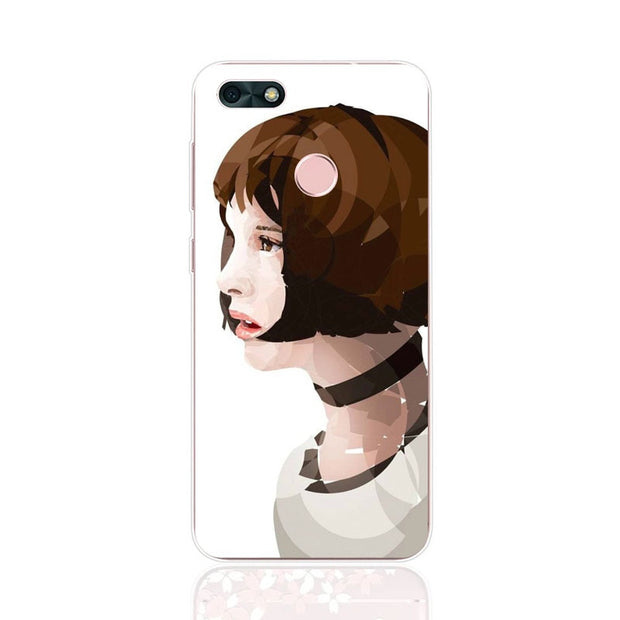 Huawei Y6 Pro 2017 Case,Silicon Look Cat Painting Soft TPU Back Cover For Huawei Y6 Pro 2017 Phone Fitted Case Shell