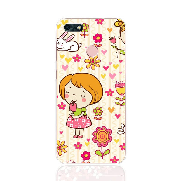 Huawei Y6 Pro 2017 Case,Silicon Lovely Kitten Painting Soft TPU Back Cover For Huawei Y6 Pro 2017 Phone Fitted Case Shell