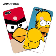 Huawei Y6 Pro 2017 Case,Silicon Popular Cartoon Painting Soft TPU Back Cover For Huawei Y6 Pro 2017 Phone Fitted Case Shell