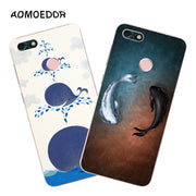 Huawei Y6 Pro 2017 Case,Silicon Popular Whimsy Painting Soft TPU Back Cover For Huawei Y6 Pro 2017 Phone Fitted Case Shell