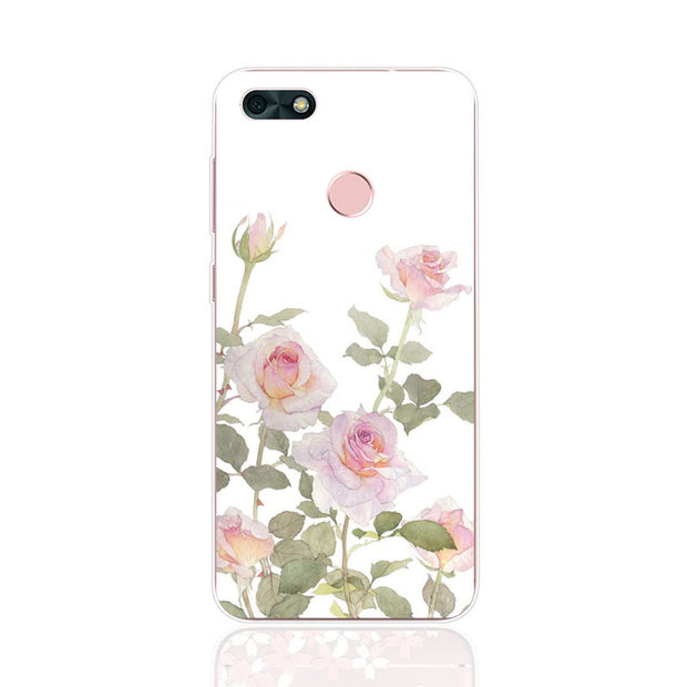 Huawei Y6 Pro 2017 Case,Silicon Flowers 3D Relief Painting Soft TPU Back Cover For Huawei Y6 Pro 2017 Phone Fitted Case Shell