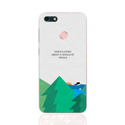 Huawei Y6 Pro 2017 Case,Silicon Landscape Painting Soft TPU Back Cover For Huawei Y6 Pro 2017 Phone Fitted Case Shell