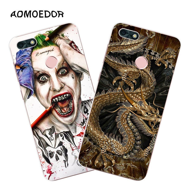 Huawei Y6 Pro 2017 Case,Silicon Panda Painting Soft TPU Back Cover For Huawei Y6 Pro 2017 Phone Fitted Case Shell