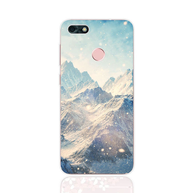 Huawei Y6 Pro 2017 Case,Silicon Scenery Painting Soft TPU Back Cover For Huawei Y6 Pro 2017 Phone Fitted Case Shell