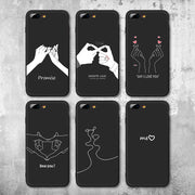 IIOZO Fashion Love Hand Gesture Design Case For Iphone 7 8 7plus 8plus Soft TPU Silicone Couple Shell Cover For Iphone 7 Case