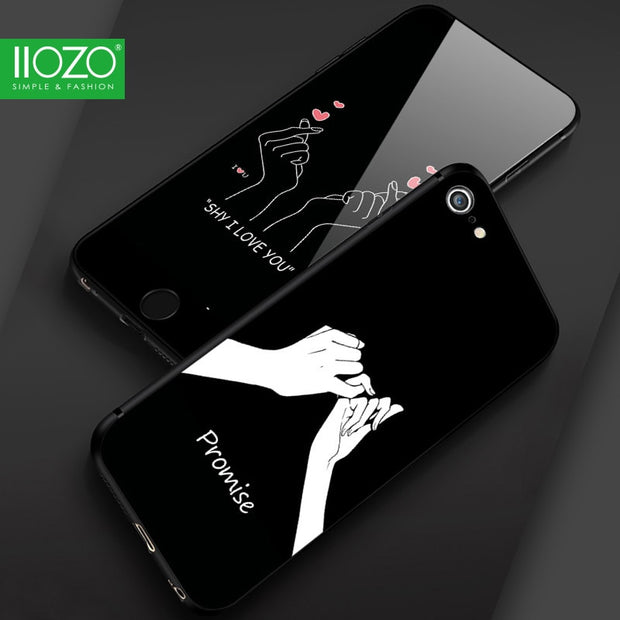 IIOZO Fashion Love Hand Gesture Pattern Phone Cases For Iphone 6 6s 6plus 6splus Ultra Thin Soft Shell Cover For Couple Friends