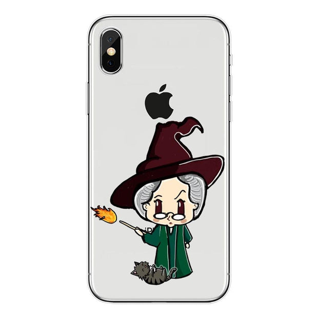 Interesting Cartoon Harry Potter Bitch Deer Watercolor Art Soft Clear TPU Phone Case For IPhone X 8 8Plus 6SPlus 5S SE Case