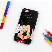 JAMULAR Cartoon Mickey Minnie Phone Case For IPhone X 8 7 6 6s Plus Soft Silicone Back Cover For IPhone XR XS MAX Cute Coque