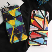 JAMULAR Colorful Triangle PC Cover For Iphone 6s 6 7 Plus Geometric Graphic Pattern Case For Iphone 8 7 Plus Hard Phone Shell
