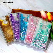 JFWEN For Coque Sony Xperia XA2 Case Silicone Liquid Glitter Soft TPU Phone Cases For Sony Xperia XA2 Case Cover Silicon Back