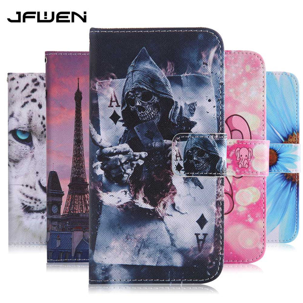 JFWEN For Funda Huawei Mate 10 Lite Case Leather Phone Case For Huawei Mate 10 Lite Honor 9i Nova 2i Case Cover Flip Wallet Capa