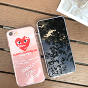 Japan Tide Brand CDG PLAY Comme Des Garcons Loving Eyes Soft Cover Case For Iphone 7 6 6S 8 Plus X XR XS MAX Transparent Cases