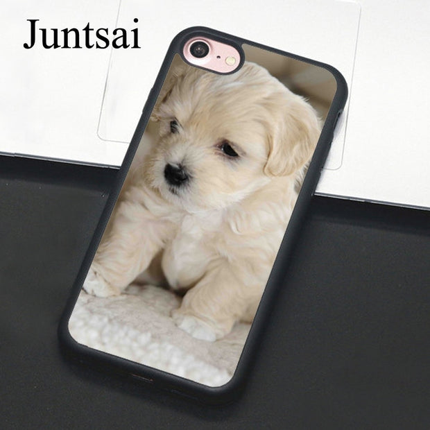 Juntsai White Havanese Puppy Dog Phone Case For IPhone 7 6 6s Plus Rubber Cover For IPhone7 8 Plus X 5 5s SE Full Back Shell