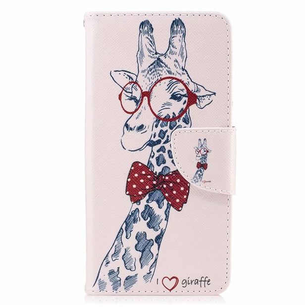 KL-Boutiques For Huawei Y6 2017 Case Flip Leather Wallet Magnet Luxury Phone Cases For Coque Huawei Y5 2017 Case Cover Capa