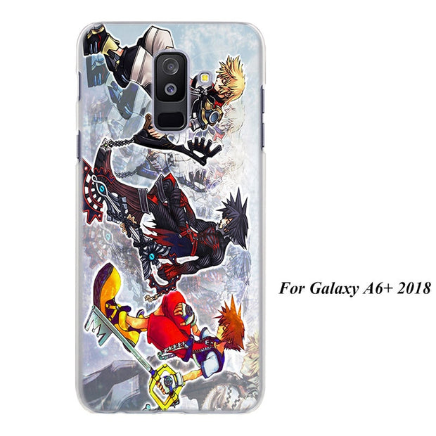 Kingdom Hearts Stained Glass Cases Cover For Samsung Galaxy A6 A6+ A8 A8+ 2018 A3 A5 A7 A9 2018 A8s A6s Hard Back Phone Case
