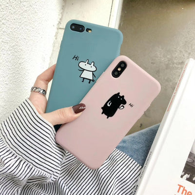 Kuutti Squishy Kawaii Cute Korean Cartoon Animal Silicone Phone Cases For IPhone 6 6s 7 8 Plus X XR XS Max Girls Phone Covers