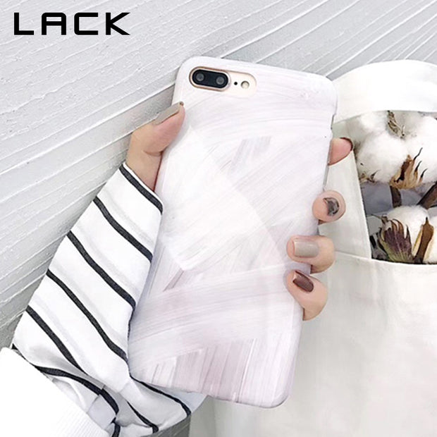 LACK Graffiti Painting Phone Case For Iphone 7 Case For Iphone X 6 6S 8 Plus Cover Fashion Simple Smooth Cases Soft IMD TPU Capa