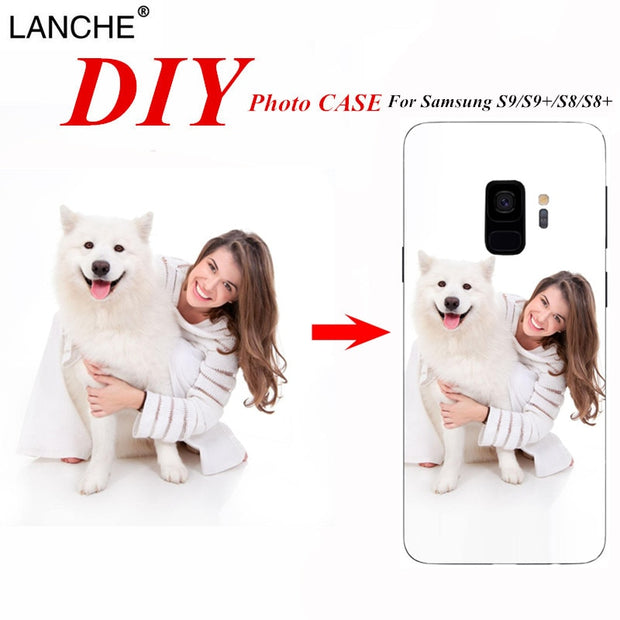 LANCHE Custom DIY Phone Cases For Samsung Galaxy S8 S9 Plus S5 S6 S7 Edge C7 Case Print Photo Soft TPU Design Phone Cover Coque