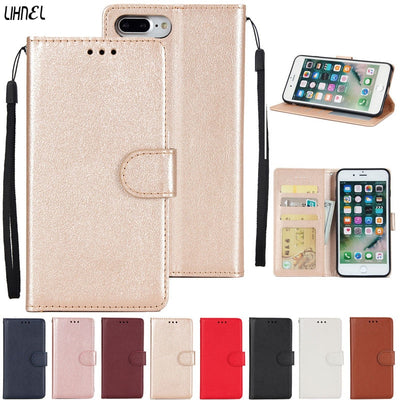 LIHNEL Luxury Magnetic Flip Cover Holster PU Leather Stand Wallet Card Slots Protection Case Cover For Apple IPhone 7plus 8plus