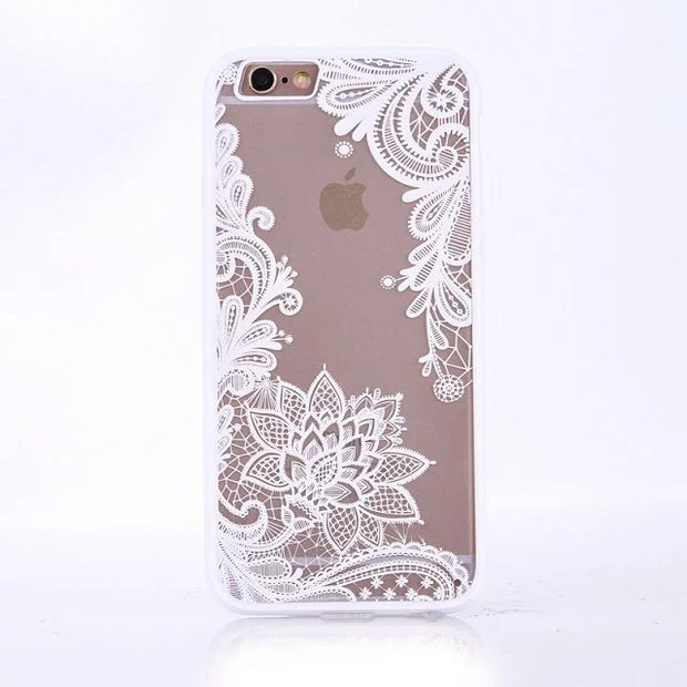 209bdb086c5 LIHNEL Retro Sexy Lace Floral Paisley Vintage Flower Mandala Henna Datura  Case Cover For IPhone 6 6S Plus 7 7 Plus