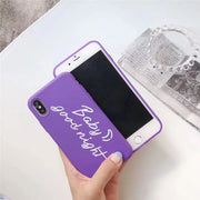 LUDI Cute Sweet Messages Phone Case For IPhone 7 7Plus Soft Silicon Case For IPhone X 6 6s 8 Plus Vintage Purple Fundas Capa Hot