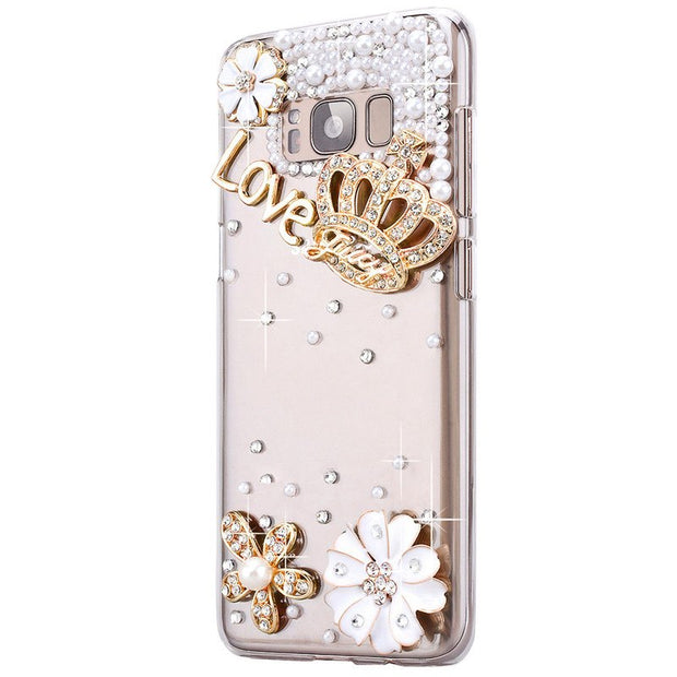 LaMaDiaa 3D Crystal Diamond Handmade Bling Soft TPU Phone Cases For Samsung Galaxy Note 9 Fashion Cover Fundas Capa