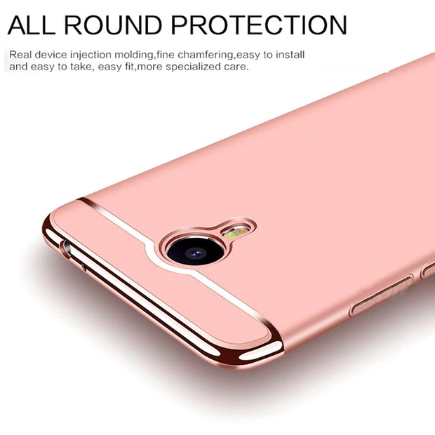 Lamorniea For Meizu M5C Case For Meizu A5 M5C Cover Full Protection Matte PC Hard Cases 3 In1 Phone Bag For Meilan A5 M5 C A5 5'
