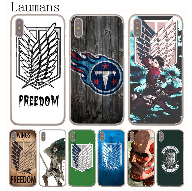 Laumans Attack On Titan Levi Hard Cover Case For IPhone 8 7 Plus 6 6s Plus 5 5S SE 5C 4 4S X/10