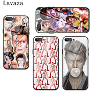 Lavaza David Bowie Art Tempered Glass Phone Cover Case For Apple IPhone XR X XS Max 8 7 6 6S Plus 5 5S SE 10 Cases