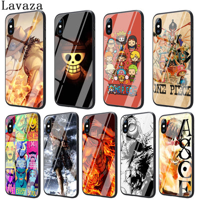 Lavaza One Piece Luffy Tempered Glass Phone Cover Case For Apple IPhone XR X XS Max 8 7 6 6S Plus 5 5S SE 10 Cases