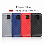 Leanonus Weave Pattern Silicone TPU Cases For Samsung Galaxy J2 Pro 2018 Braided Grain Soft Cover For Galaxy J2 2018 Capa Coque
