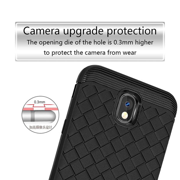 Leanonus Weave Pattern Silicone TPU Cases For Samsung Galaxy J7Pro J5Pro J3Pro Braided Grain Soft Cover J7 J5 J3 2017 Capa Coque