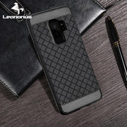 Leanonus Weave Pattern Silicone TPU Cases For Samsung Galaxy S9 Plus S9+ Braided Grain Soft Cover For Galaxy S8 S8+ Capa Coque