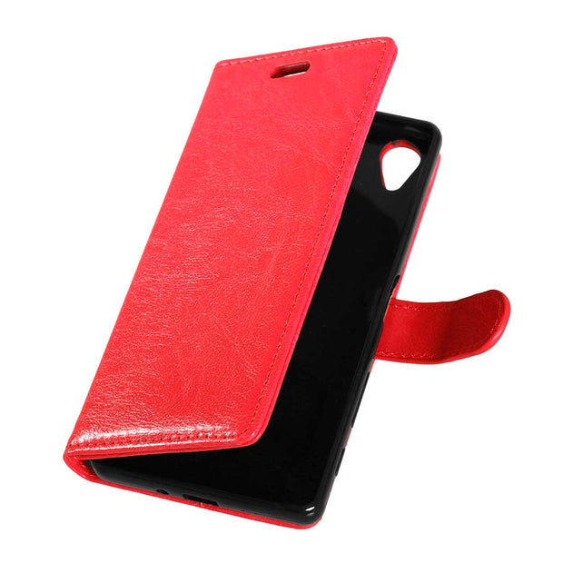 "Leather Case For Sony Xperia X F5121 Dual 5.0"" Flip Case Photo Frame Phone Leather Cover For Sony X Dual X1 F5122 F 5121 51221"