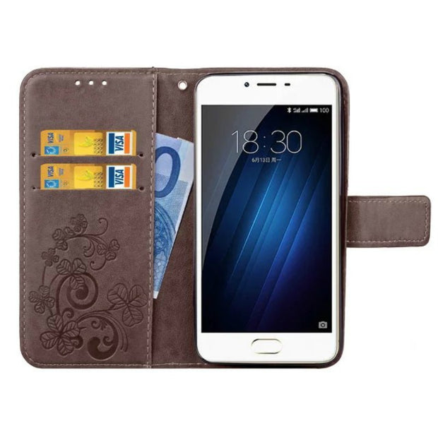 Leather Phone Case Wallet Cover For Meizu M3 Mini M3S M3 M5 M5S Case M3 M5 Note M6 Note Flip Stand Book Capa Soft TPU Back Cover